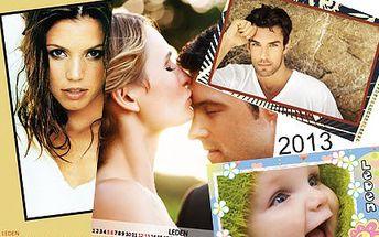 Fotokalendář formátu A3! Vaše vlastní fotografie budou vás či vaše blízké provázet po celý rok 2013. Nejkrásnější vánoční dárek!