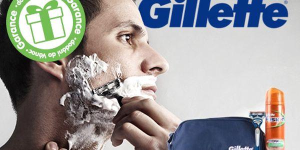 Dárkové balení Gillette Fusion pro muže – holící strojek, taštička a 200ml pěna