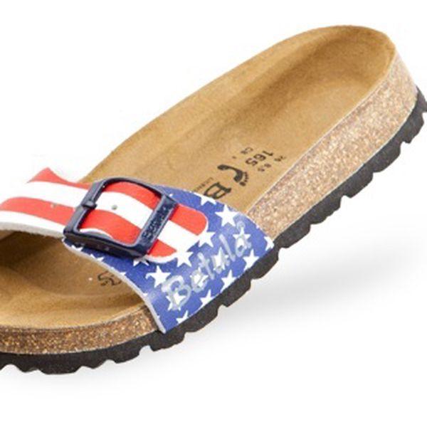 Unisex pantofle Betula s potiskem americké vlajky