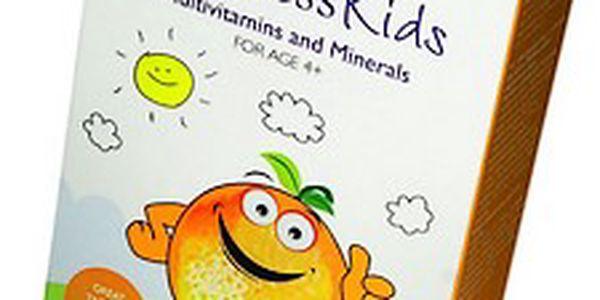 Blahodárné multivitaminy a minerály pro děti WellnessKids 21tablet x 1,1g
