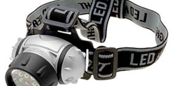 12 LED diodová čelovka na 3x AAA baterie a poštovné ZDARMA!