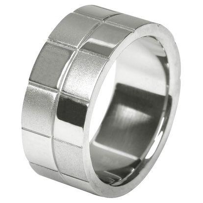 Krásný prsten Tribal z chirurgické oceli.
