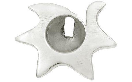 Stříbrná ozdoba na piercing do pupíku s motivem hvězdičky.