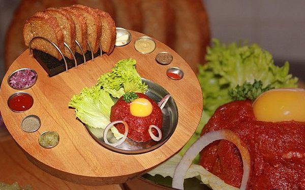 99 Kč za SPECIÁLNÍ TATARÁK z plemene BLACK ANGUS! Nenechejte si ujít tatarský biftek ze speciálně šlechtěného hovězího masa!