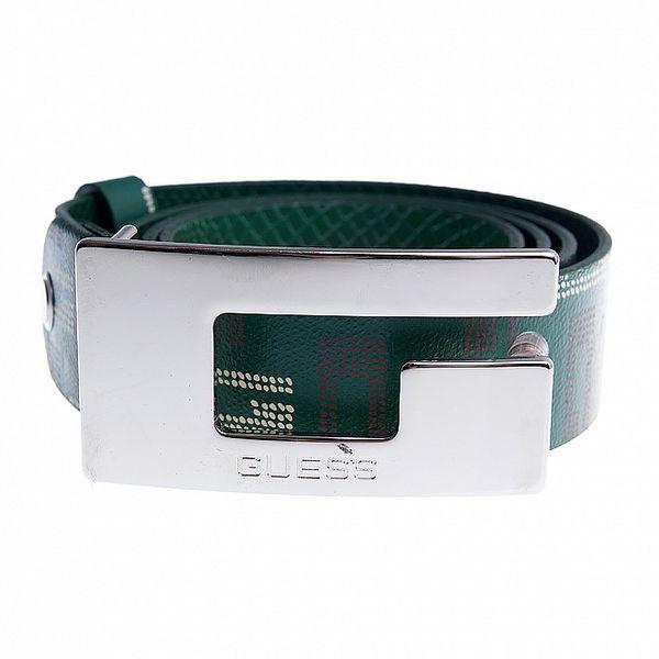 Dámský tmavě zelený pásek Guess