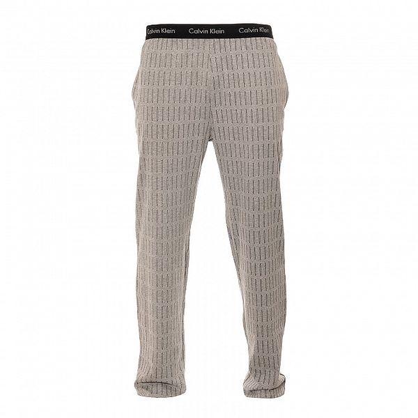 Šedé pánské kalhoty Calvin Klein