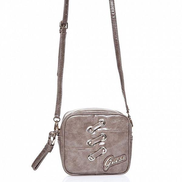 Dámská tmavě šedá kabelka Guess s ozdobným prošíváním
