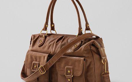 Kvalitní prostorná a elegantní kabelka koženého vzhledu. Lze ji nosit třemi způsoby. Originál z Tchibo.