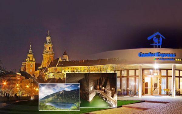 3 nebo 4 denní pobyt pro DVĚ OSOBY SE SNÍDANÍ a SKVĚLOU VEČEŘÍ v moderním hotelu Comfort Express*** !! V blízkosti Krakowa a solné jeskyně Wieliczka! Už od neuvěřitelných 1350.-kč ! Sleva až 61%!