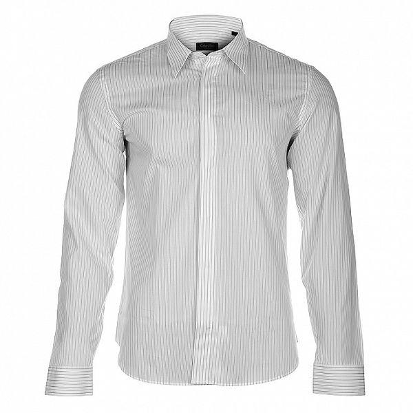 Pánská košile Calvin Klein s úzkým šedivým proužkem