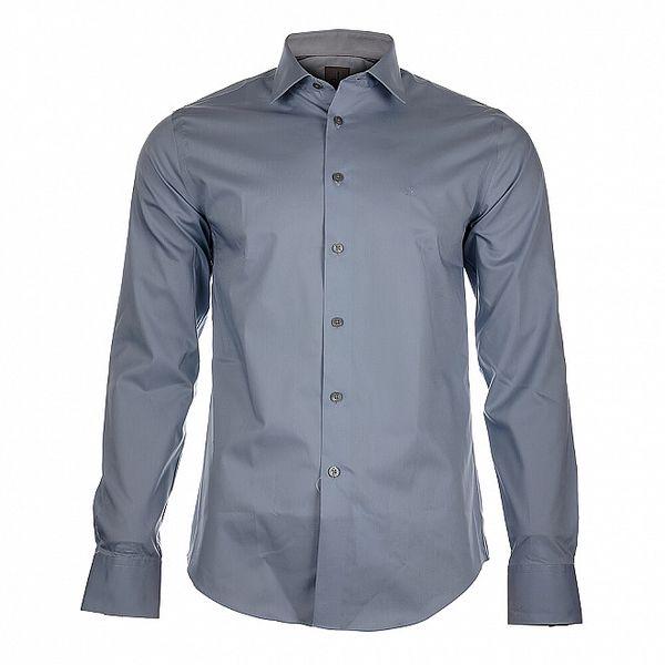 Pánská ocelově šedá košile Calvin Klein