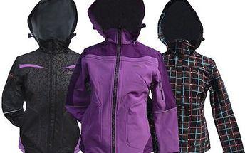 Dámská softshellová bunda! Vhodná pro sport, do města i na procházku. Voděodolné zipy si poradí i s horším počasím!