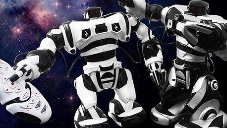 """Inteligentní robot, který reaguje na Vaše příkazy! Umí chodit, udeřit, uchopit a házet předměty, stejně tak, jako umí tančit, nebo bojovat ve stylu """"kung fu""""! Nejprodávanější hračka letošních Vánoc. Udělejte radost svým dětem i Vy!"""