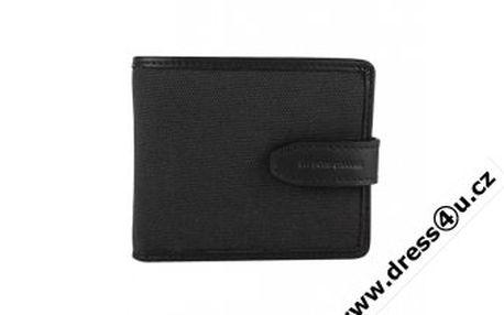 Kvalitní pánská peněženka Hugo Boss Serenos v kombinaci textilu a kůže.