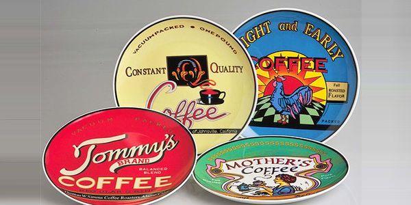 Dezertní talíře Coffee Brands – 50% sleva