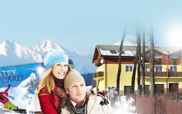 WELLNESS POBYT ve Vysokých Tatrách na Slovensku pro 2 nebo 3 osoby na 2 nebo 3 noci již od 2 650 Kč! K pobytu SNÍDANĚ, víno, SAUNA, FITNESS a TATRY Card! Užijte si super zimní pobytový balíček ve Vysokých Tatrách se slevou 47%!