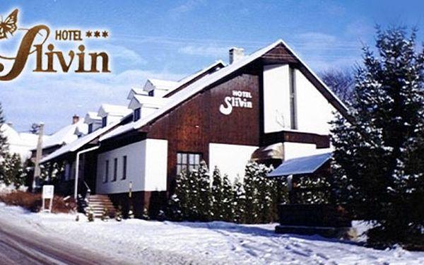 50% sleva na pobyt. Pouhých 1399 Kč za 2noci/3dny/ pro 2 osoby s polopenzí a bonusy v hotelu Slivin***. Odpočiňte si v krásné valašské přírodě a užijte si zimních radovánek.