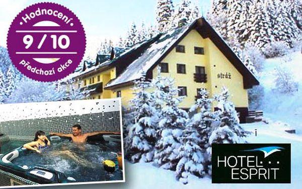 3*hotel ve Špindlerově Mlýně na 3 nebo 6 dní pro 2 s polopenzí – wellness, sleva na masáže, Špindlcard za polovinu