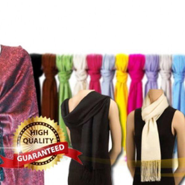 Luxusní PASHMINA se vzorem nebo bez za fantastických 129 Kč! Módní doplněk, který potěší, zahřeje a podtrhne Vaší eleganci se slevou 68% Na výběr až ze 120 ti barev!