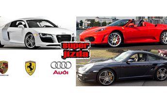 Jízda v nejluxusnějších a nejrychlejších autech od 499 Kč. Ferrari F430, Porsche 911 Turbo, Audi R8. Nezapomenutelný zážitek z jízdy, až 520 koňských sil pod kapotou!