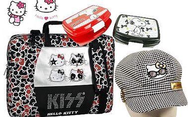 Hello Kitty a Snoopy! Pořiďte skvělé dárky pro děti - bekovka, taška na notebook a svačinový set!
