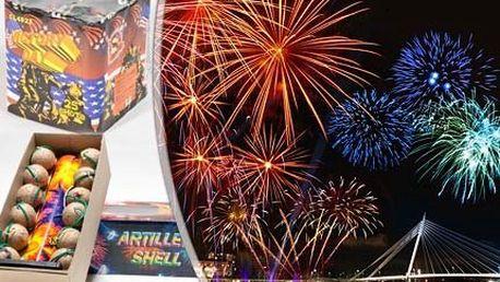 2 mohutné ohňostroje! 25ranný a 12ranný je viditelný kilometry daleko! Oslavte začátek roku pompézně!