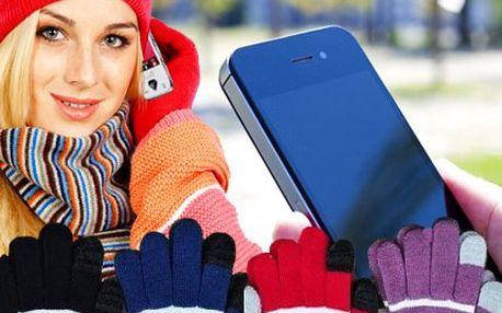 Rukavice pro dotykové telefony! Zahřejí, ale díky vodivosti můžete ovládat svůj telefon!