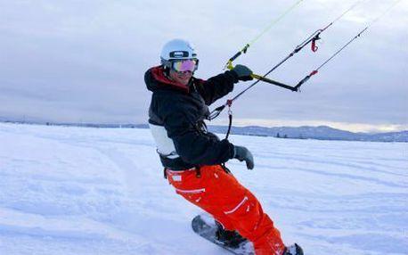 Celodenní kurz snowkitingu! Adrenalin v Krušných horách pod vedením zkušeného instruktora!