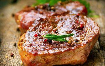 2x Rumpsteak s přílohou! Vychutnejte si VE DVOU pravé steaky s uruguayského býčka!