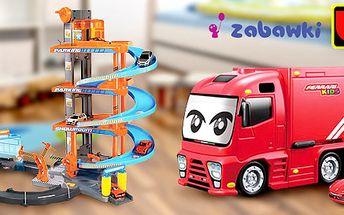 Kvalitní autíčka, dráhy, garáž a truck Bburago