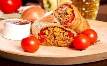 Mexicko-španělské menu PRO DVA! Aperitiv, španělská česnečka, výběr burritos a ovocný sorbet ze sektu!