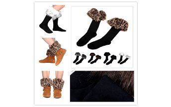 Ozdobné ponožky kryjící vrchní část obuvi a poštovné ZDARMA! - 1058