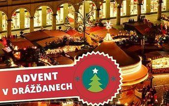 Zájezd do adventních Drážďan! V ceně doprava, technický doprovod a punč nebo čaj!