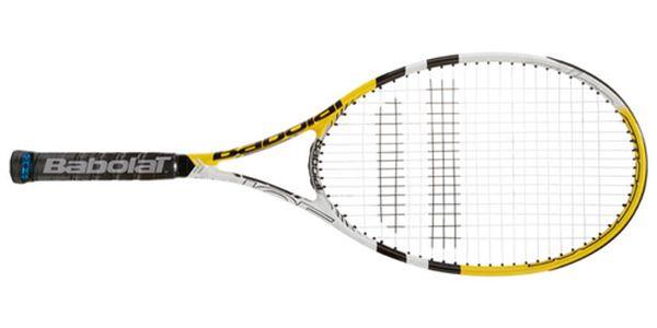 Parádní tenisová raketa BABOLAT Pulsion 105! Raketa je vypletená a má obal