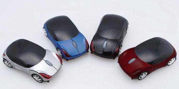 Bezdrátová optická myš ve tvaru autíčka - na výběr ze 4 variant OPĚT PRODLOUŽENO!