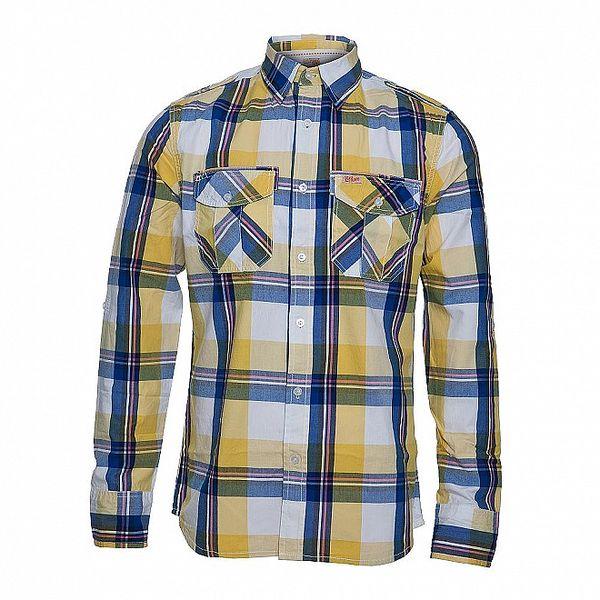 Pánská košile Lois Elrond s modrožlutým károvaným vzorem