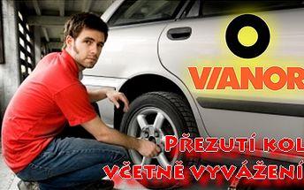 Jen 390 Kč za kompletní přezutí pneumatik VČETNĚ VYVÁŽENÍ se slevou 61% v pneuservisu Vianor v Plzni. Moderní autoservis, snadná dostupnost a profesionální služby!