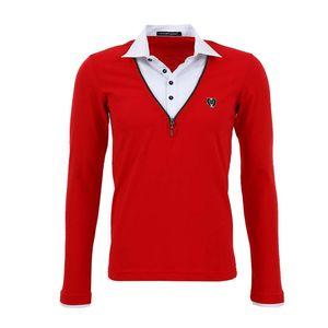 Pánské tričko s košilí Redbridge červené