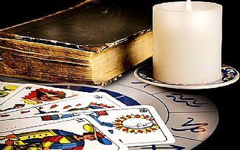 1 hodina osobního výkladu karet se slevou 50%, ke každému poukazu dárek