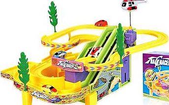 Autodráha pro děti! Nadupaná autodráha s bumperem, mostem, trampolínou i smykem!