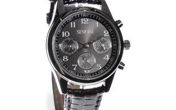 Dámské hodinky Sinobi černé lesklý pásek