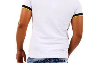 Pánské polo triko Redbridge černo-žluto-bílé M