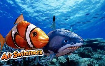 Létající ryba - ŽRALOK SHARK/ NEMO CLOWNFISH I! Nechte si bytem proplout LÉTAJÍCÍ RYBU. Nabízíme tento hit AIR SWIMMER, se slevou 65% za pouhých 499 Kč, nejlevněji na slevových serverech!!