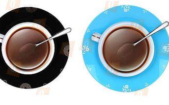 Nástěnné hodiny ve tvaru hrnku kávy - na výběr ze dvou barev a poštovné ZDARMA! - 702