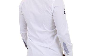 Pánská košile Redbridge bílá modro-šedý potisk XL