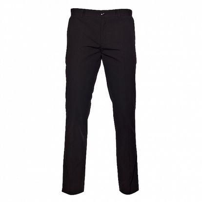 Pánské černé kalhoty Selected s jemným šedivým proužkem