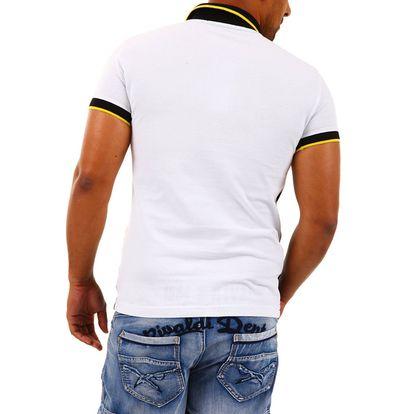 Pánské polo triko Redbridge černo-žluto-bílé