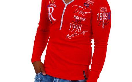 Pánské tričko Redbridge červené na knoflíčky