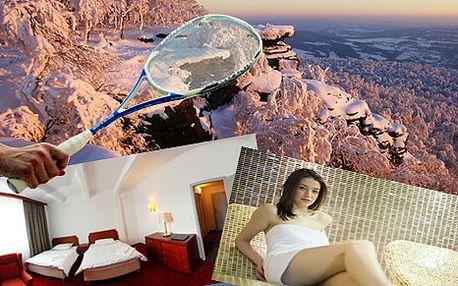 Pobyt pro DVĚ osoby: 3 dny nabité sportem a wellness v luxusním 4* hotelu v Děčíně (squash, badminton, stolní tenis)