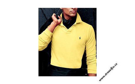 Luxusní pánské polo triko Ralph Lauren žluté